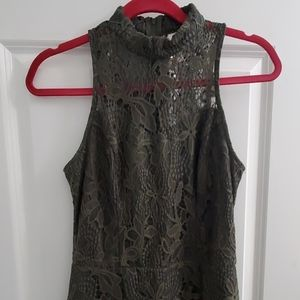 boho Lacey army green only worn once